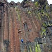 Rock Climbing Photo: Max's photo, mid crux
