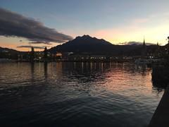 Pilatus from Luzern, at sunset