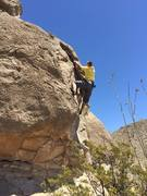 Rock Climbing Photo: Scary V3 on the El Paso side