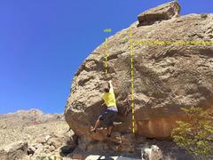 Rock Climbing Photo: Sloping Beauty! V5 stand, V6 sit. Finish at the Ju...