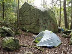 Camp below O&W wall