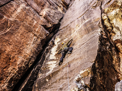Rock Climbing Photo: Jonny on Back in Time. Oct 2017.