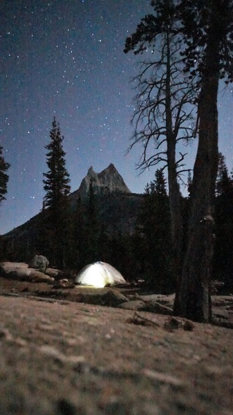 Upper Cathedral Lake Campsite - Under Cathedral Peak