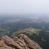 top of the first looking down into boulder