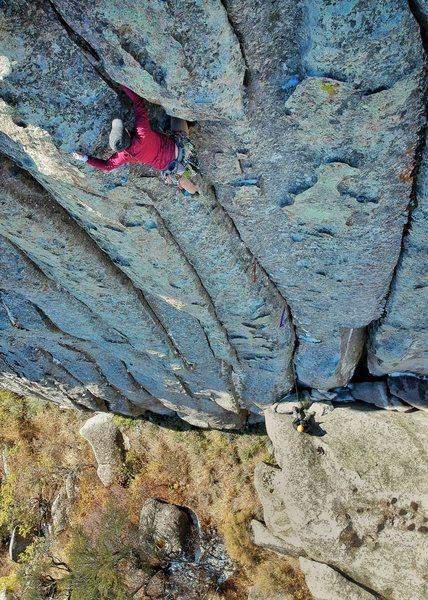Dallin Baker - cold october climbing