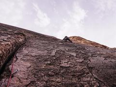 Rock Climbing Photo: Jonny on p3 of Dream of Wild Turkeys. Oct 2017.