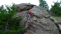 Rock Climbing Photo: On the east face of The Hourglass.