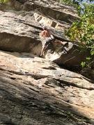 Rock Climbing Photo: In the crux