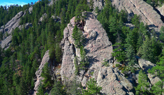 Rock Climbing Photo: Royal Arch as seen from the top of the Regency.
