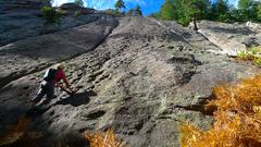 Rock Climbing Photo: Starting up the buckets.
