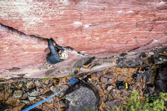 Josh Munoz Leading Upper Diagonal, Devils Lake  <br />Photo By Tommy Schuch