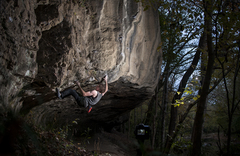 Alex McIntyre in the crux of Commencement. (Photo by Alex McIntyre)