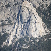 West face of Tahquitz Rock, seen from the highway near Pine Cove.