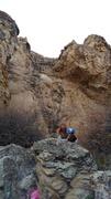 Rock Climbing Photo: Crystal Pockets, 5.10b.