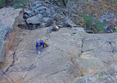 Rock Climbing Photo: Mark Hofmeister warming up for the day.