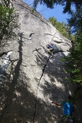 Rock Climbing Photo: Grant trying Ray Rice's new 5.11 just right of Ech...