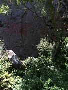 Graffiti at the bottom of the route