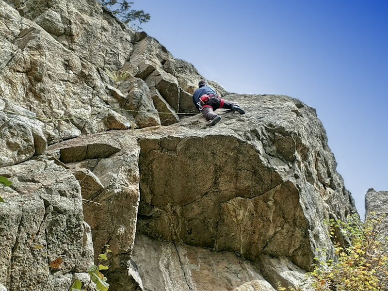 Ken Cangi obscure cragging. A little like Calypso, in Eldo, but not as interesting.