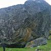 Nice boulder in Dyrnes