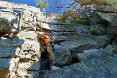 Rock Climbing Photo: The start of Conn's West Pitch 3, direct variation...