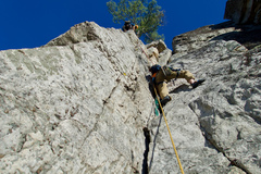 Rock Climbing Photo: Nearing the end of Conn's West Pitch 3, direct var...