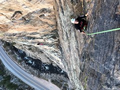 Rock Climbing Photo: A different perspective of the final moves of the ...