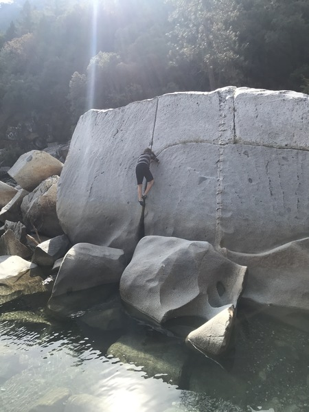 Me climbing the crack