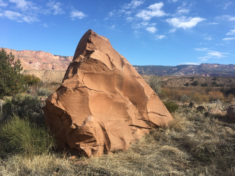 The south side of the DNA Boulder.