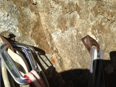 Rock Climbing Photo: Old bolts on Prime Cut