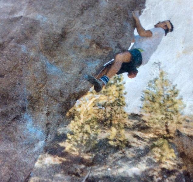 Deadmans Summit.Jim Baker(me)climbing.