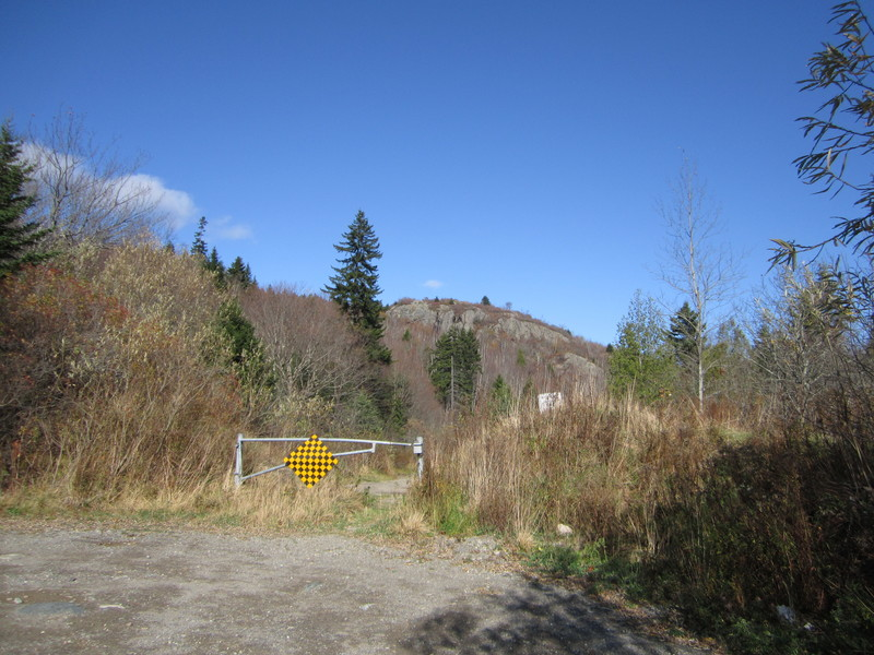 View of the cliff from the end of Glen Road.