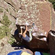 Rock Climbing Photo: Bobbi Bensman getting down to business.