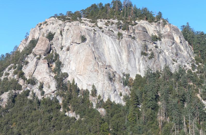Suicide Rock seen from Devil's Slide.