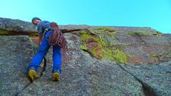 Rock Climbing Photo: Hippo Head crux.