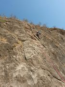 Trying to get out of the crux in the middle
