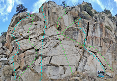 Rock Climbing Photo: 8 Dostie - Left Slab: C. Left Arete D. Near Left...