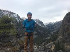 Jeff Peabody summoning his inner Alfred Fonazarelli on the summit.