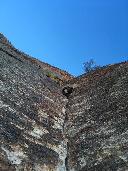Kyle heading up the middle 10c pitch