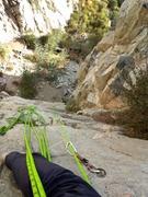 Rock Climbing Photo: P2 belay of Super Soul Slab.