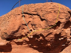 Rock Climbing Photo: A picture of slammer (teal) and slammeroonie (yell...