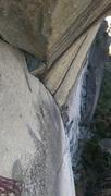 Rock Climbing Photo: Hyena Arch from the top anchor (same for Schizo Di...