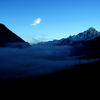 Cloud inversion over the Chamonix Valley