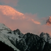 Mont Blanc with Alpenglow