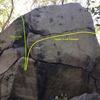 Bullet Boulder's right side.