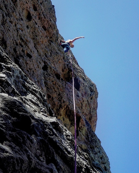First Lead Climb on Moonshiner