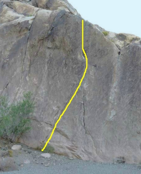 Left Front Boulder Crack, photo courtesy of George Smith collection.