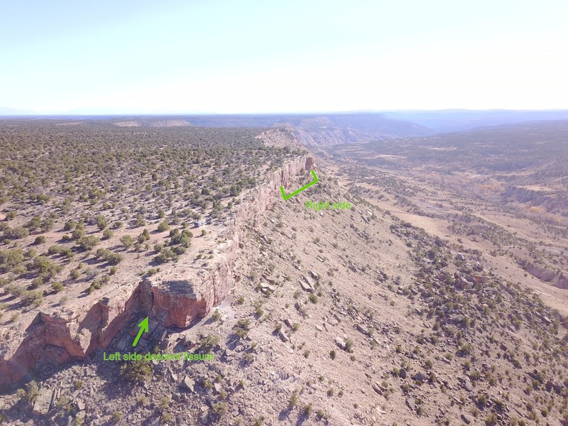 Aerial view of the Dry Creek Crag.