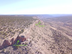Rock Climbing Photo: Aerial view of the Dry Creek Crag.