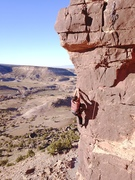 Rock Climbing Photo: Jacob taking the arete variation.
