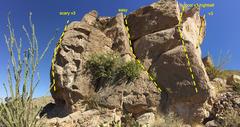 Rock Climbing Photo: Pano downhill side